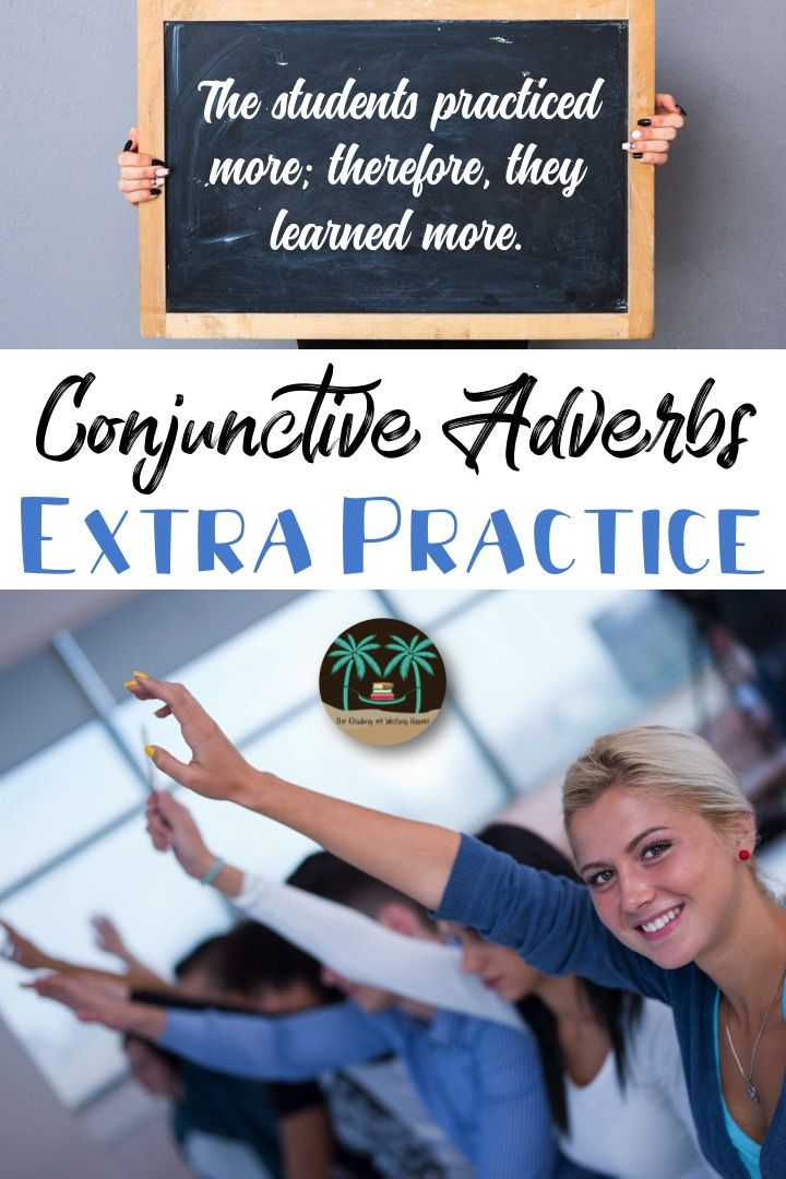 Provide students with extra conjunctive adverb practice in the form of a minilesson or reference page and four additional practice worksheets that are NOT boring! :)