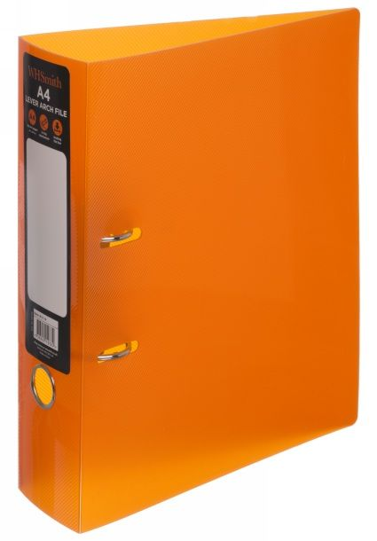 WHSmith Orange Polypro Lever Arch File