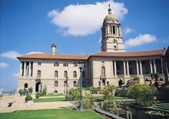 Side view of the Union Buildings, Pretoria, Capital City of South Africa