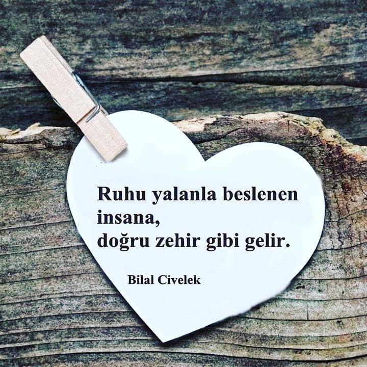 Ruhu yalanla beslenen insana, doğru zehir gibi gelir. - Bilal Civelek #sözler #anlamlısözler #güzelsözler #manalısözler #özlüsözler #alıntı #alıntılar #alıntıdır #alıntısözler #şiir #edebiyat