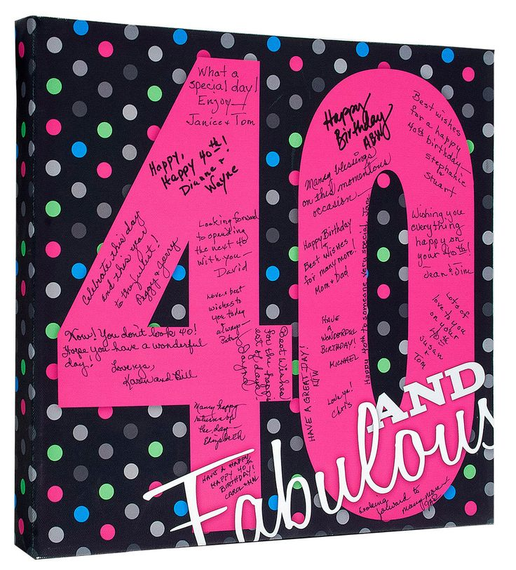 40th Birthday Party, 40th Birthday Guest Book, Unique 40th Birthday Gift, 40th Birthday Canvas, 40th Birthday Keepsake, Signature Canvas by CanvasKudosSHOP on Etsy https://www.etsy.com/listing/238225736/40th-birthday-party-40th-birthday-guest