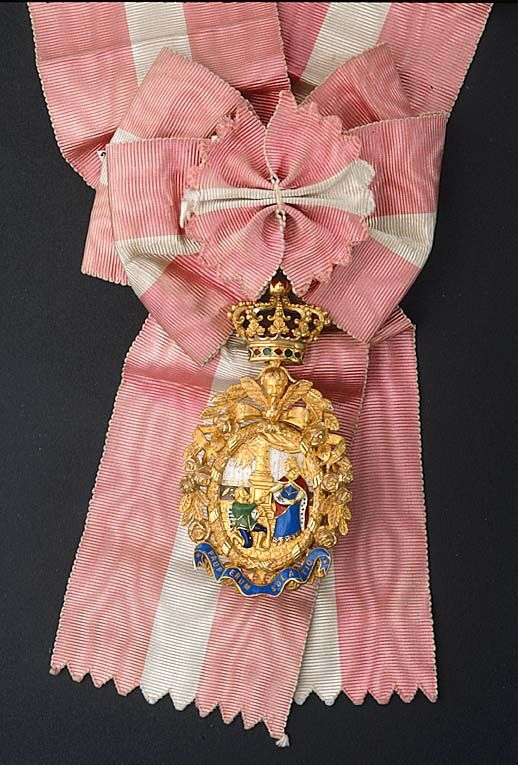 Order of Saint Isabel (Portugal) - Sash and Badge belonged to Queen Victoria of Sweden (by Estevao de Sousa. Swedish Royal Collections)