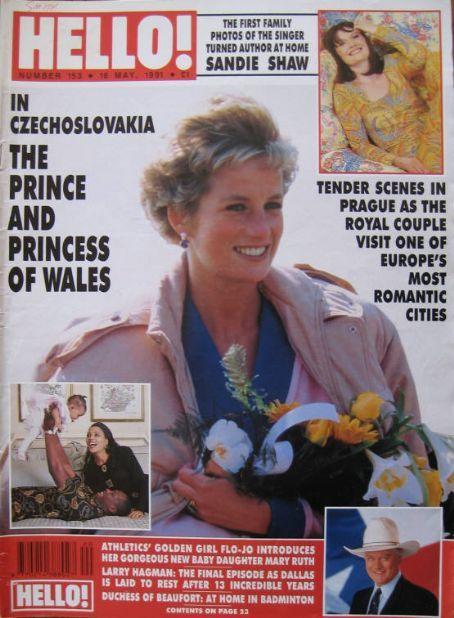1991 05 18 Hello magazine (UK) Diana visits Czech Republic 1991
