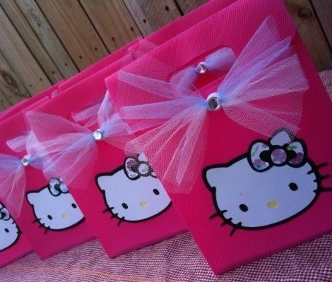 6 Bolsas de cumpleaños de Hello Kitty