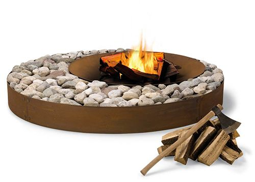 Outdoor Wood Fireplace - cool, contemporary designs by AK47Fire Pits, Modern Fireplaces, Ideas, Fireplaces Design, Gardens, Outdoor Fire Pit, Outdoor Fireplaces, Firepit, Yards