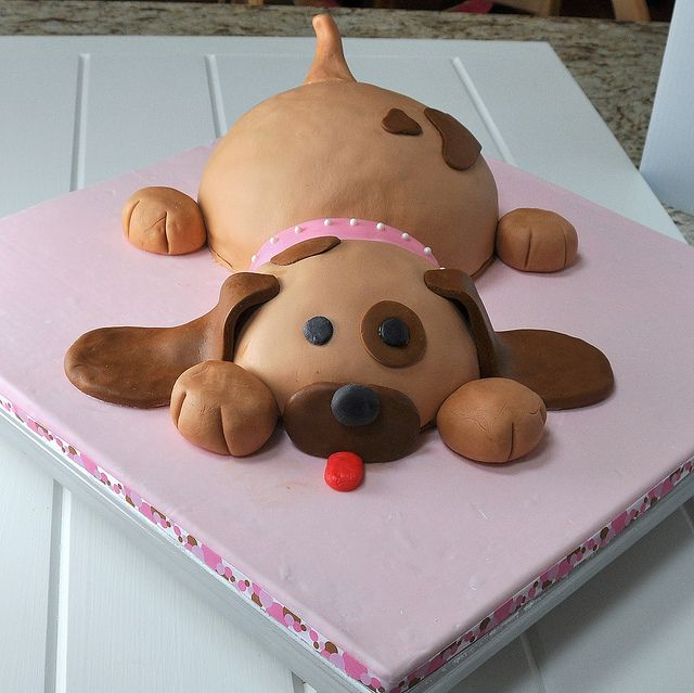 How To Make A D Puppy Cake