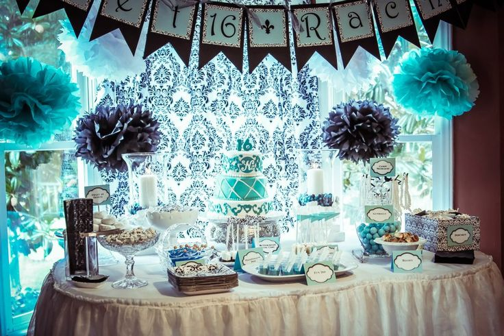 ... Parties, Mint Color, Shower, Parties Ideas, 16Th Bday, Birthday Ideas