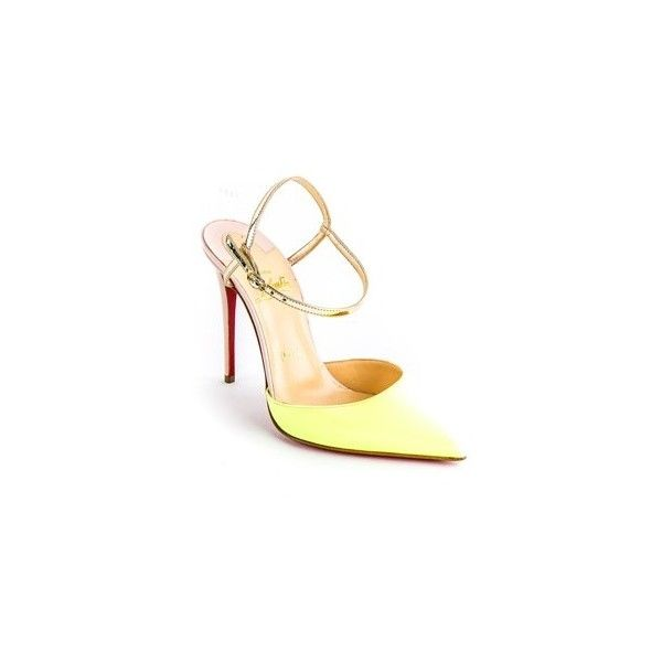 Christian Louboutin Neon Rivierina 100mm Pumps ❤ liked on Polyvore featuring shoes, pumps, fluorescent shoes, christian louboutin pumps, neon pumps, neon shoes and christian louboutin shoes