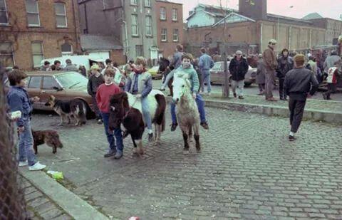 Smithfield Market, Dublin 1987.