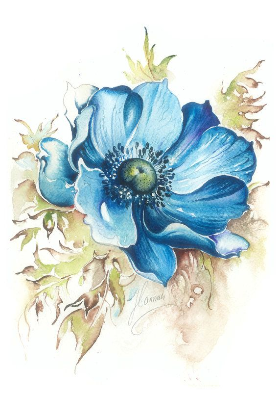 """""""Blue Gem"""" from the series """"Blossoming Planet"""""""