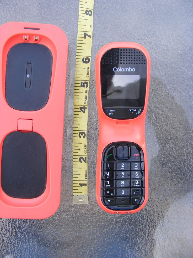 Magicbox Colombo 212024 Single Dect Cordless Telephone - Coral #COLOMBO