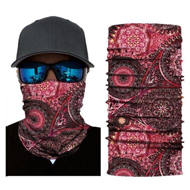 Multifunction head wrap neck tube scarf mask hat USA FLAG Motorcycling ski Sport