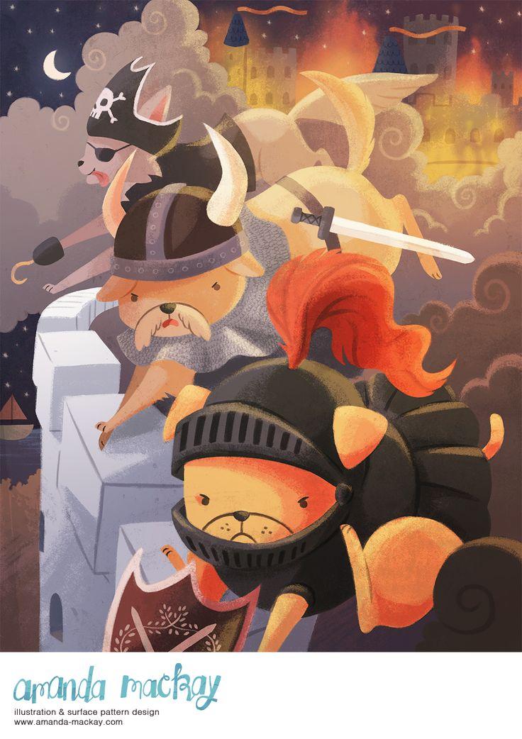 Adventure Pups - by Amanda MacKay Illustration