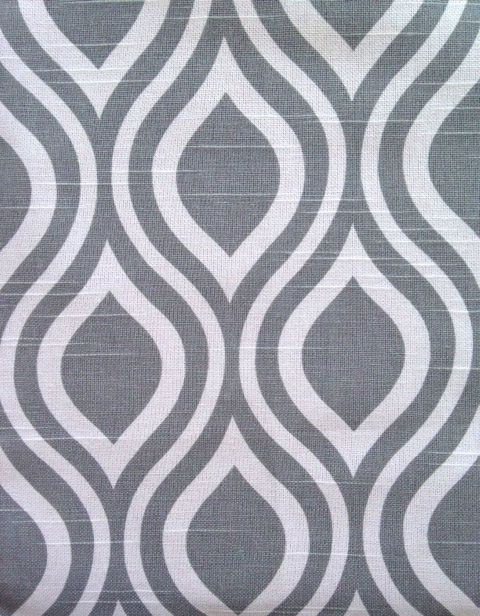 Grey Geometric Upholstery Fabric Silver Grey By PopDecorFabrics