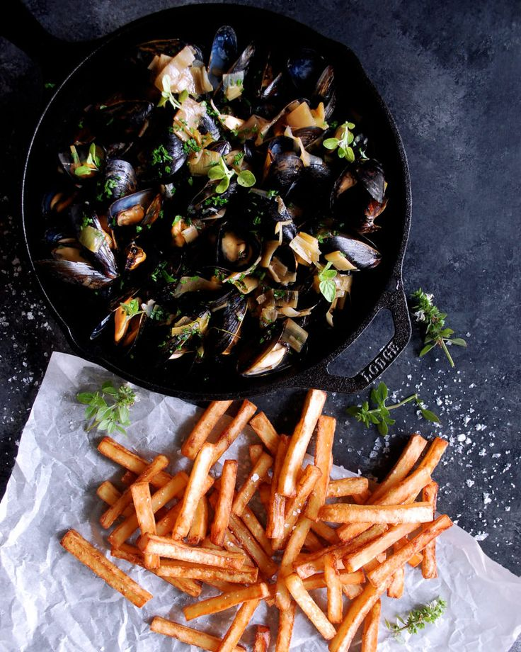 Moules Frites with Black Garlic Broth from The Original Dish - www.theoriginaldish.com