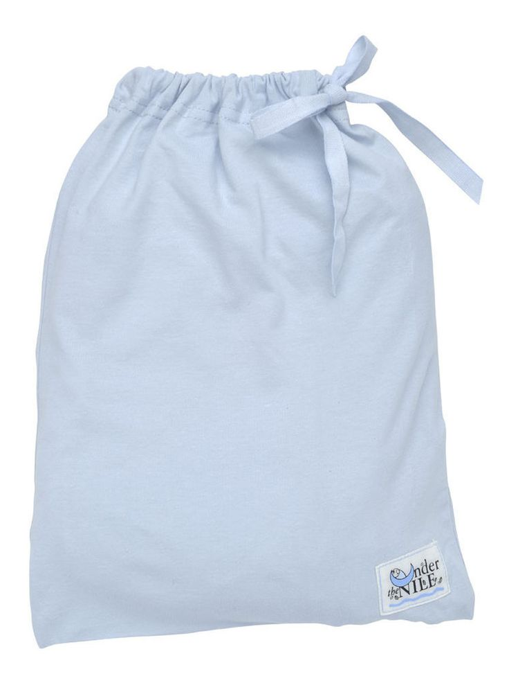 Color: Blue Under the Nile's soft, interlock crib sheets are a newborn necessity. Made with 100% Organic Egyptian Cotton, these sheets come with a matching bag for easy and clean storage as well as a great presentation for a gift.   eBay!