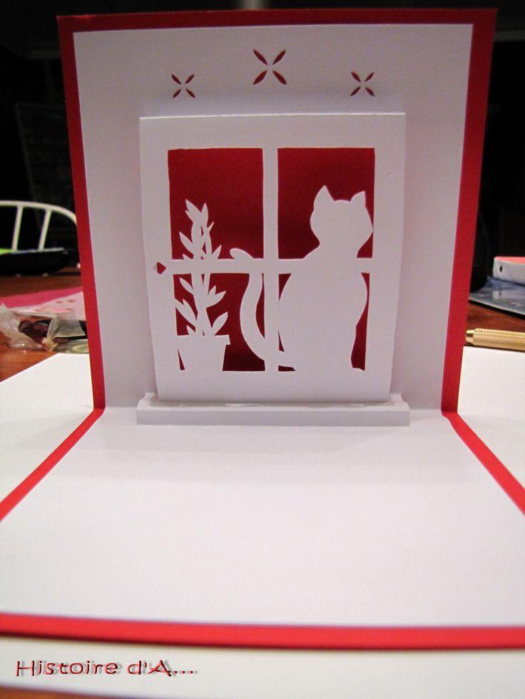 160 best kirigami et cartes pop up images on pinterest cardmaking paper art and paper crafts. Black Bedroom Furniture Sets. Home Design Ideas