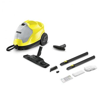 Karcher steam cleaner SC4 is a powerful steam cleaner & comes with many features and accessories such as 2 level steam & microfibre cloths
