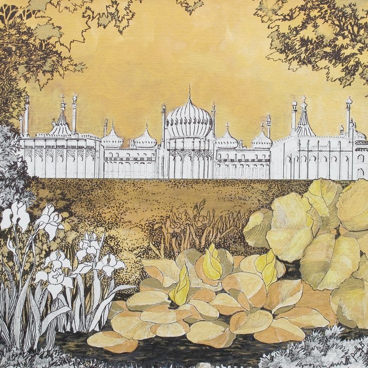 ARTFINDER: Brighton Pavillion by Polly Ballantine - Aubrey Beardsley inspired view of Brighton's iconic Pavilion.