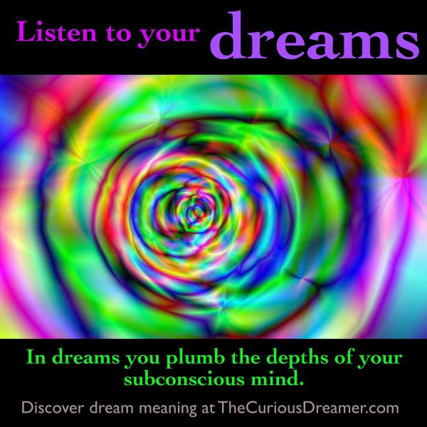 an analysis of dreams in ones subconscious mind The symbolism of water dreams has a  under water — you are beginning to explore a wealth of untapped gifts that have not yet surfaced from your subconscious mind.