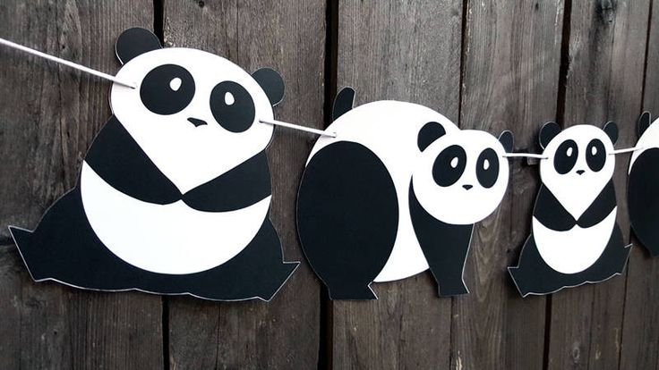 Panda Bear Garland, Panda Bear Banner, Panda Bear Decorations, Panda Banner, Panda Birthday, Panda Baby Shower Banner, Panda Nursery Banner by CraftyCue on Etsy