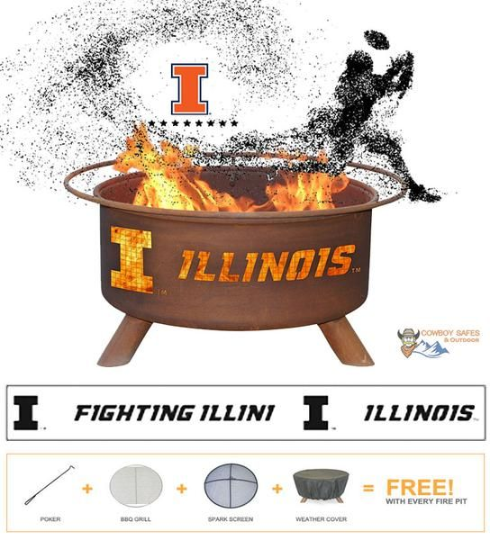 Fire Pit NCAA Show Your Pride and Entertain your Friends with the Illinois Fighting Illini Steel Fire Pit! – College Fire Pit