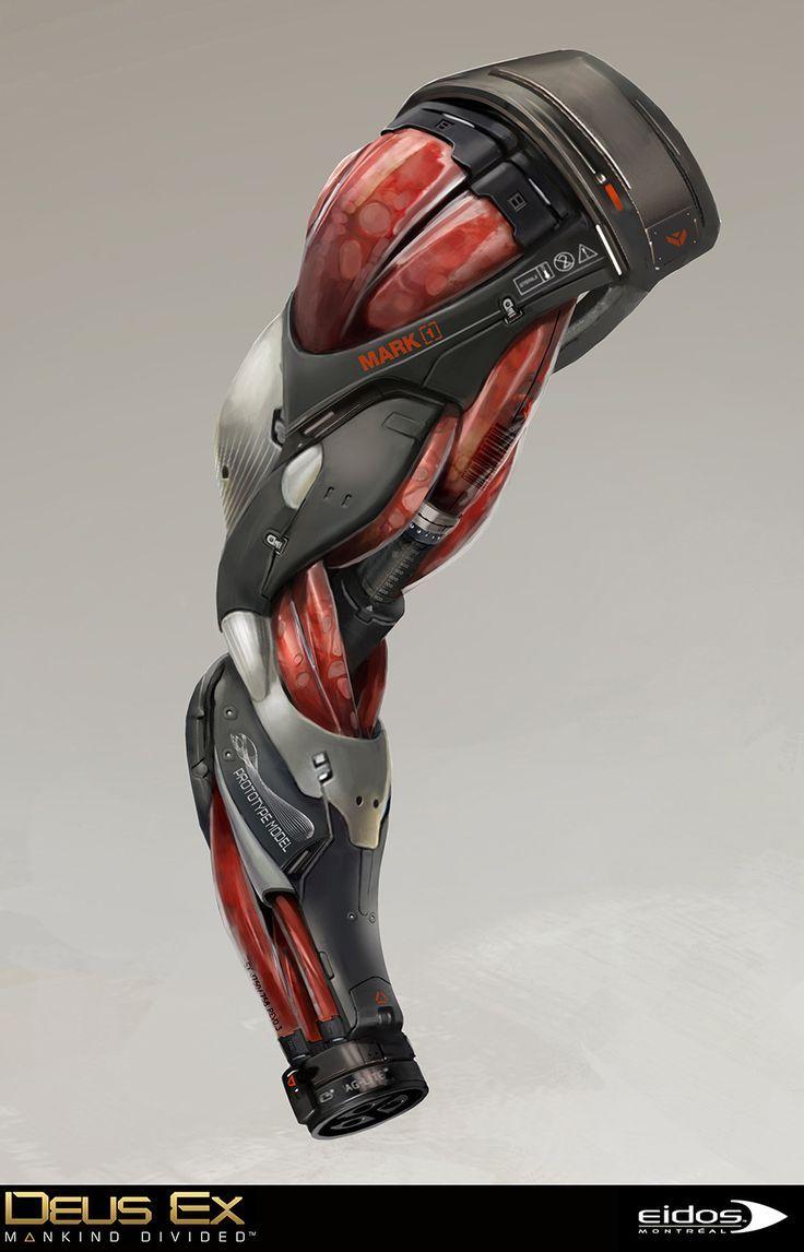 ArtStation – Deus Ex Mankind Divided – Marchenko Secret Arm and Hyperion gun, Br…