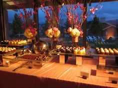 pretty mini dessert buffet setup...