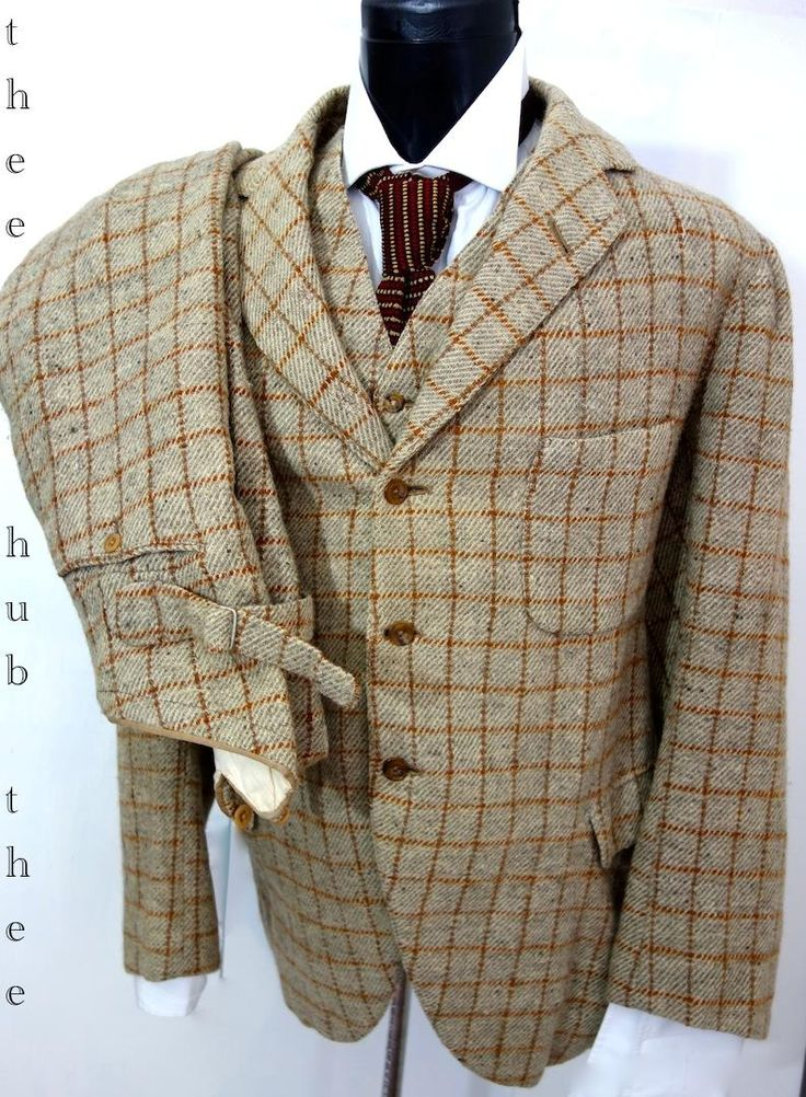 Awesome 1922 3 Piece PLus Two Tweed Suit, Large Size
