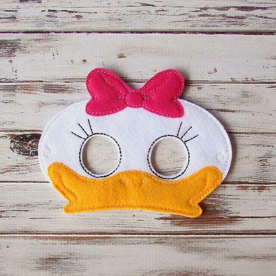 Máscara de pato fieltro máscara de animales por AnnsCraftHouse