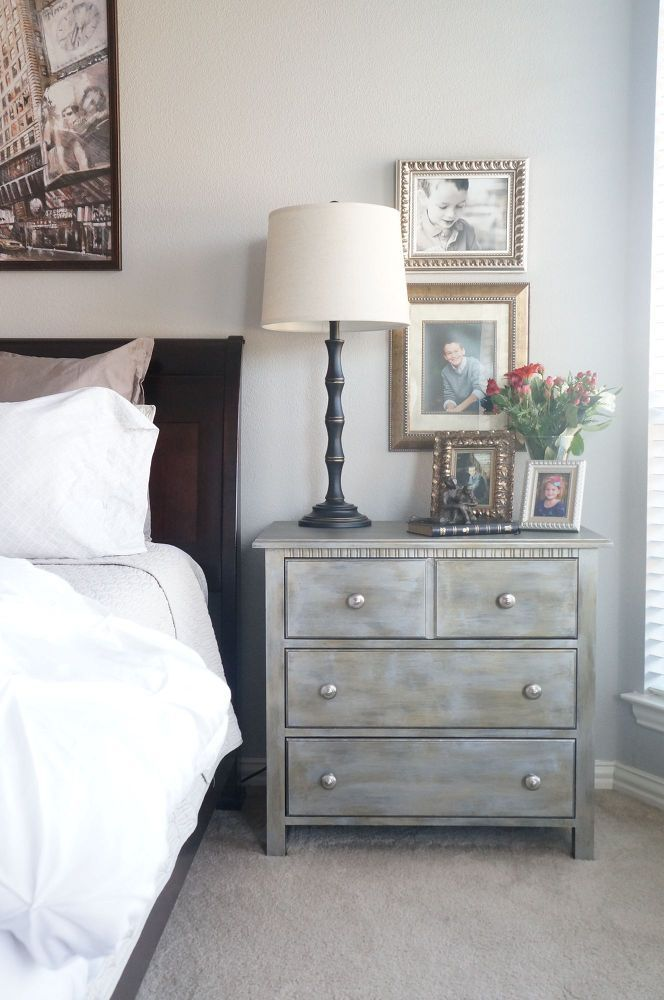 Fusion Minerals Metallics Paint, no sealing or waxing like CP great makeover of an otherwise boring nightstand