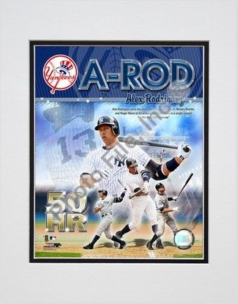 """Alex Rodriguez """"50 Home Run Portrait Plus"""" Double Matted 8â€� x 10â€� Photograph (Unframed)"": Enjoy… #Sport #Football #Rugby #IceHockey"