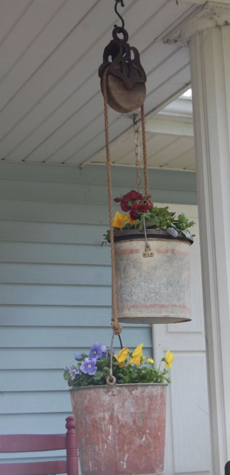 diy pulley system for plants
