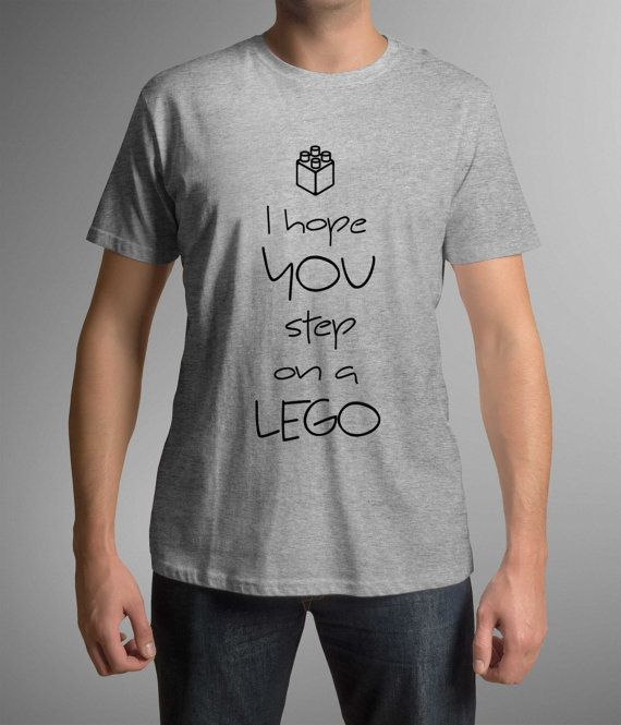 Funny t-shirt! I hope you step on a lego!Mens clothing! Birthday gift! Gift Idea!