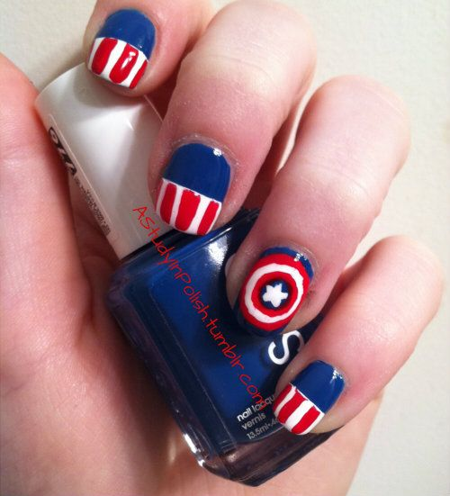 Marvel's The Avengers Nail Art @Delaney Parrish Parrish Parrish Jones