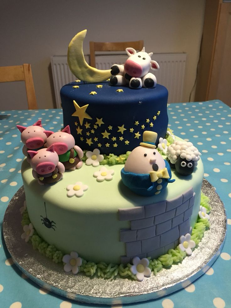 Nursery rhyme children's birthday cake