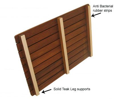 Best Teak Shower Mat Ideas On Pinterest Bathroom Updates - Diy bathroom shower flooring ideas
