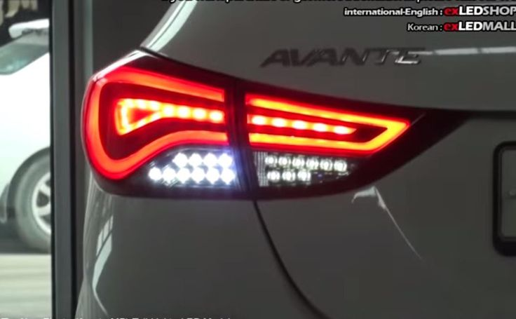 New Hyundai (2014) Elantra Avante MD Tail Lights Rear Lamps  Panel Lighting Brake LED Modules
