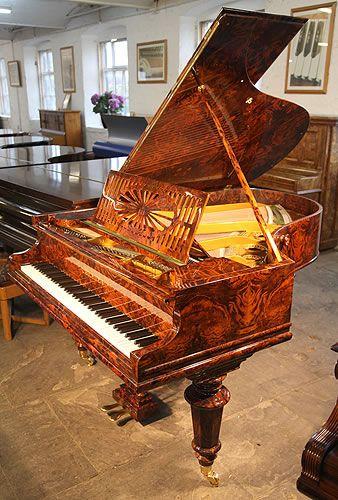 A 1910, Bechstein Model A grand piano with an exquisite, burr walnut case #bechstein #bechsteinpiano