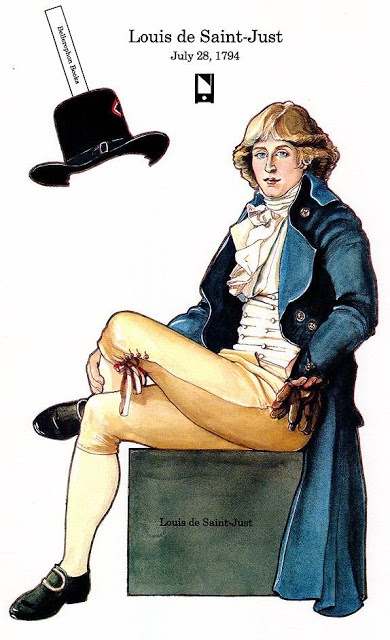 PD285 Louis de Saint-Just, The French Revolution Paper Dolls