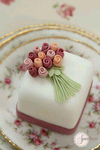 Mini bolo buquet