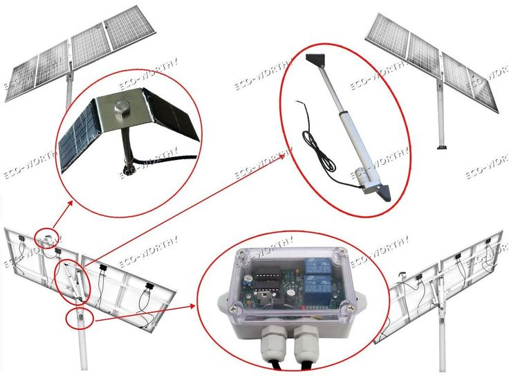 1KW solar tracking system single Axis Complete Kit sunlight track- solar tracker #ECOWORTHY