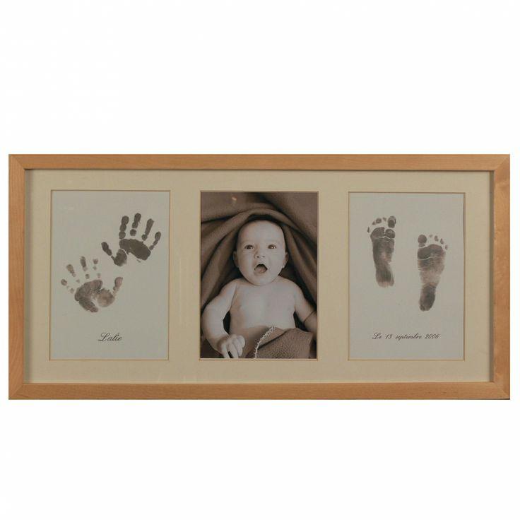 Cadre bébé avec empreintes mains et pieds : Kits et tutoriels Home Déco par tinykidz