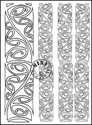 Maori Printables: Kowhaiwhai Colouring Page 2