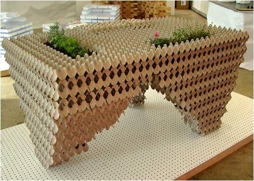 Reciclado+De+Carton+De+Huevos   Todo un clásico que le aportará a tu salón un toque rústico si ...