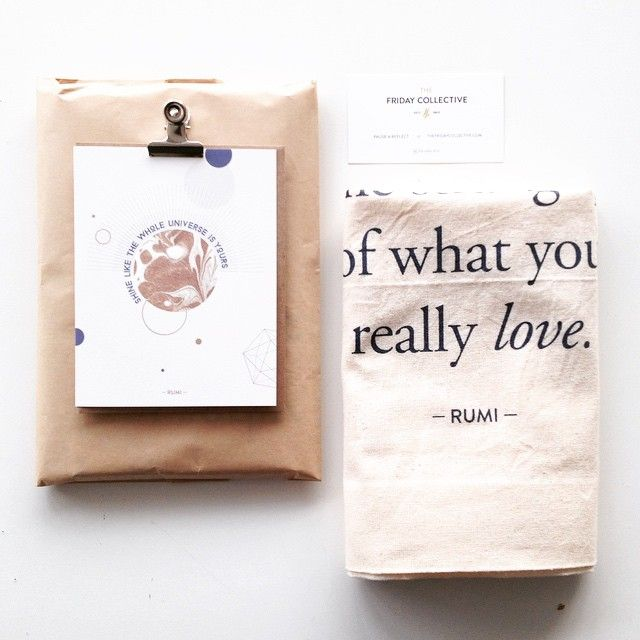 Rumi-inspired gift idea ~ greeting card + a lovely summer tote-bag, perfect for a birthday! #rumi #inspiration #giftidea
