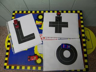 Highway ABC cards. Fun way to learn letters in your name using a transportation theme