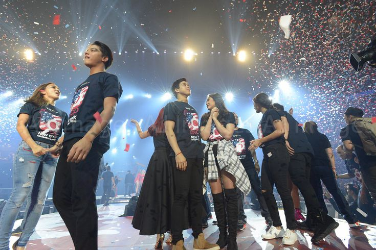 Here are the three biggest Kapamilya love teams: KathNiel (Kathryn Bernardo and Daniel Padilla), ElNella (Elmo Magalona and Janella Salvador), and LizQuen (Liza Soberano and Enrique Gil) smiling for the camera and feeling confident and enthusiastic after the final production number of ASAP Live in New York at the Barclays Center, Brooklyn, New York, U.S.A. last September 3, 2016. They're very great and awesome, indeed.... :-) Thank you for the love, Kapamilya!