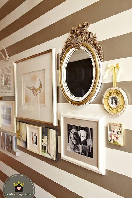 Hallway <3: Wall Decor, Decor Ideas, Stripes Wall, Frames, Galleries Wall, Wall Stripes, Bathroom Decor, Wife Castles, Accent Wall