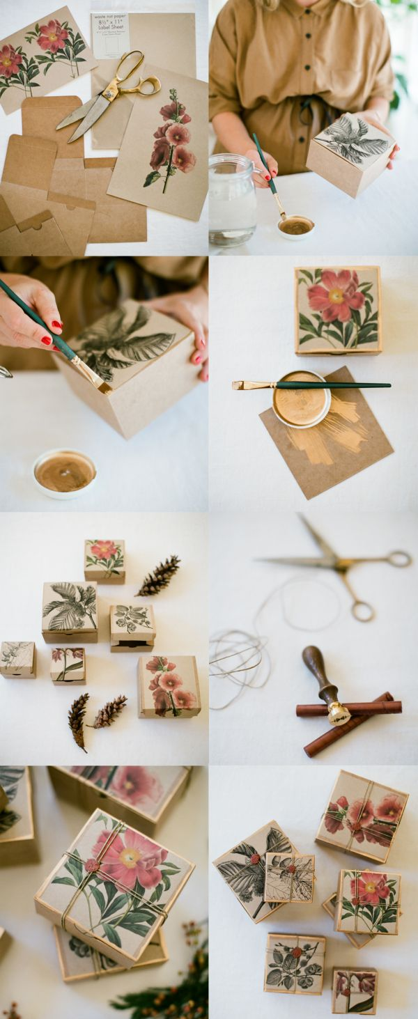 DIY: unique gift wrapping
